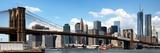 Panoramic Skyline of New York City, Manhattan and Brooklyn Bridge, One World Trade Center, US Fotografie-Druck von Philippe Hugonnard