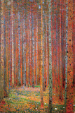 Dennenwoud Posters van Gustav Klimt