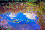 Claude Monet Water Lily Pond 4 Plastic Sign Plastikskilt af Claude Monet