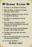 Boxer House Rules Humor Plastic Sign Kunststof borden