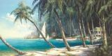 Ensenada de Bali Póster por Art Fronckowiak