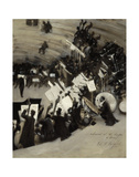 Rehearsal of the Pasdeloup Orchestra at the Cirque d'Hiver, about 1879–80 Posters by John Singer Sargent