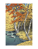 Autumn at Oirase (Oirase no aki), 1933 Print by Kawase Hasui