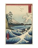 The Sea off Satta in Suruga Province (Suruga Satta kaij), 1858 Poster von Ando Hiroshige