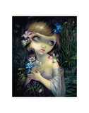 Portrait of Ophelia Art by Jasmine Becket-Griffith