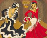 Cevilla Diptych A Giclée-tryk af Marsha Hammel