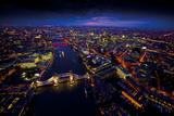 Sky View London II Giclée-Druck von Jason Hawkes