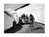 Charly Gaul in a Climb During the 42nd Giro D'Italia Stampa fotografica Premium di Angelo Cozzi