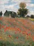 The Poppy Field Giclee-trykk av Claude Monet
