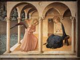 The Annunciation (panel) Giclée-Druck von Beato Angelico