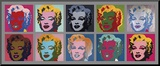 Ten Marilyns, c.1967 Mounted Print by Andy Warhol