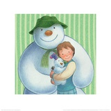 The Snowman and the Snowdog (Group Pattern) Prints