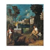 The Tempest Reproduction procédé giclée par Giorgione da Castelfranco