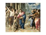 Christ Healing the Blind Lámina giclée por  El Greco