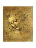 Head of a Young Woman La Scapigliata (the Lady of the Disheveled Hair) Giclee-trykk av  Leonardo da Vinci