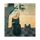 A Woman (the Wait) Giclée-tryk af Casorati Felice