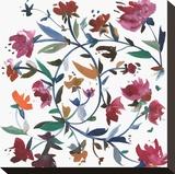 Nouveau Boheme - Folk Art Series No. 1 Stretched Canvas Print by Kiana Mosley