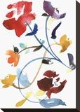 Nouveau Boheme - Folk Art Series No. 2 Stretched Canvas Print by Kiana Mosley