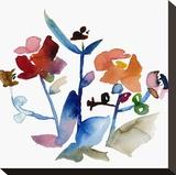 Nouveau Boheme No. 1 - Japanese Garden Series Stretched Canvas Print by Kiana Mosley