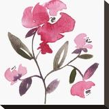 Nouveau Boheme - Peony Stretched Canvas Print by Kiana Mosley