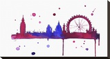 London Baby Stretched Canvas Print by Jessica Durrant