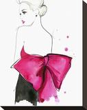Pink Bow Trykk på strukket lerret av Jessica Durrant