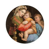 Madonna of the Chair Giclée-tryk af Raffaello Sanzio
