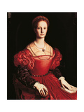 Portrait of Lucrezia Panciatichi Giclée-tryk af Agnolo Bronzino