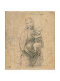 Madonna and Child at Two Thirds Figure Reproduction procédé giclée par Sanzio Raffaello