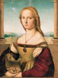 Portrait of a Young Woman (Lady with a Unicorn) Giclee Print by Raffaello Sanzio