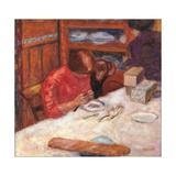 Interior the Woman with the Dog Lámina giclée por Pierre Bonnard