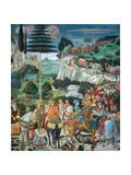 Magi Chapel. Journey of the Magi (the Magi Ride) Giclée-tryk af Benozzo Gozzoli