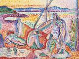 Luxe, Calme et Volupte - Luxury, Calm, and Vuluptuousness Gicléedruk van Henri Matisse