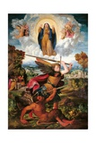Archangel Michael and the Devil Poster af Dosso Dossi