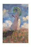 Woman with a Parasol Turned to the Left Kunstdrucke von Claude Monet