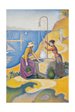 Women at the Well Affischer av Paul Signac