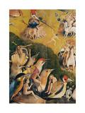 Garden of Earthly Delights,(Martyrs & Angels) by Hieronymus Bosch, c. 1503-04. Prado. Detail. Plakater av Hieronymus Bosch