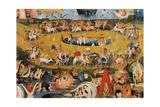 Garden of Earthly Delights,(Martyrs & Angels) by Hieronymus Bosch, c. 1503-04. Prado. Detail. Posters van Hieronymus Bosch