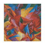 Plastic Forms of a Horse Posters av Umberto Boccioni