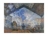 Saint Lazare Station Print by Claude Monet