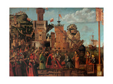 Legend of St. Ursula. Meeting and Departure of the Betrothed Posters af Vittore Carpaccio
