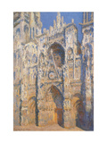 Rouen Cathedral, Morning Sun, Harmony in Blue Print by Claude Monet