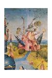 Garden of Earthly Delights,(Martyrs & Angels) by Hieronymus Bosch, c. 1503-04. Prado. Detail. Kunstdrucke von Hieronymus Bosch
