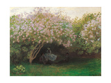Lilacs. Grey Weather Plakater af Claude Monet