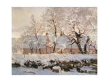 Die Elster Giclée-Premiumdruck von Claude Monet