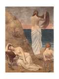 Young Girls at the Seaside Poster by Pierre Puvis de Chavannes