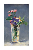 Carnations and Clematis in a Crystal Vase Poster by Edouard Manet