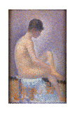 Profile of a Model Kunst van Georges Seurat