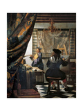 Art of Painting Giclée-Premiumdruck von Johannes Vermeer