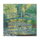 Waterlily Pond Green Harmony Plakater af Claude Monet